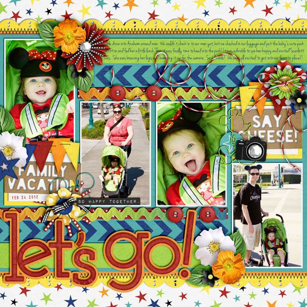 Let's go to Disneyland - Disney Scrapbooking; layout by Britt