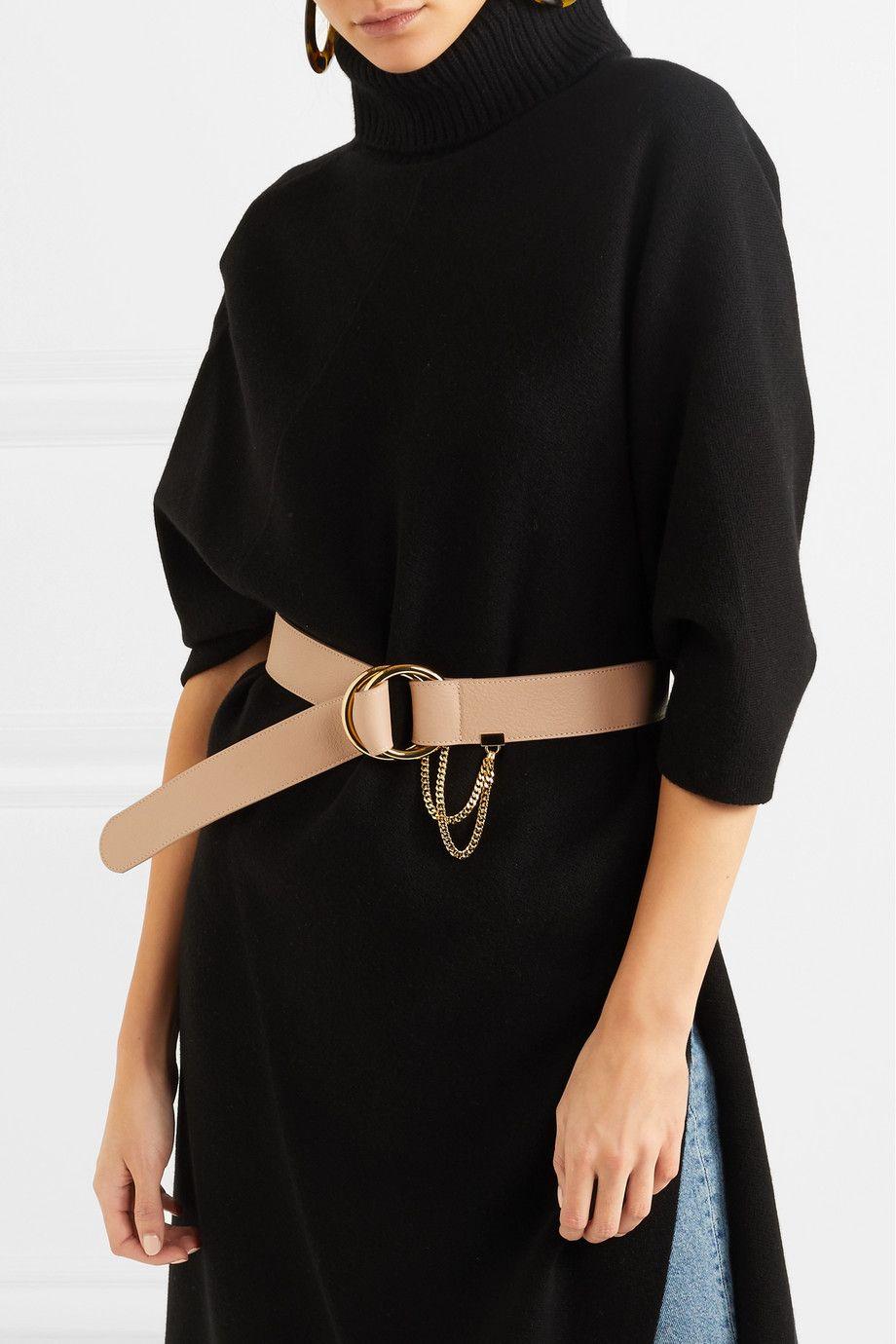 Carly Textured-leather Waist Belt - Beige Chlo 4YwItUSzGA