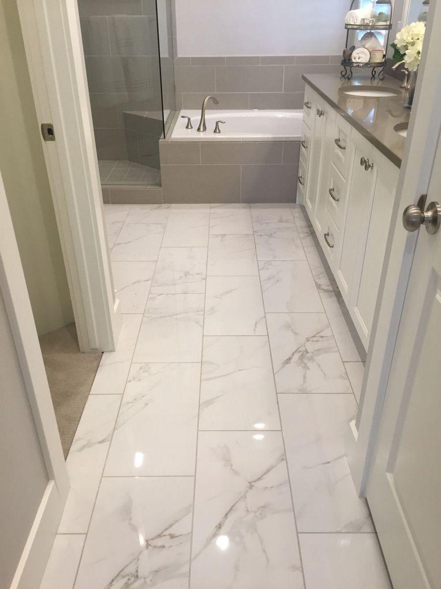 Awesome 30 Marble Tile Bathroom Flooring Ideas Bathrooms