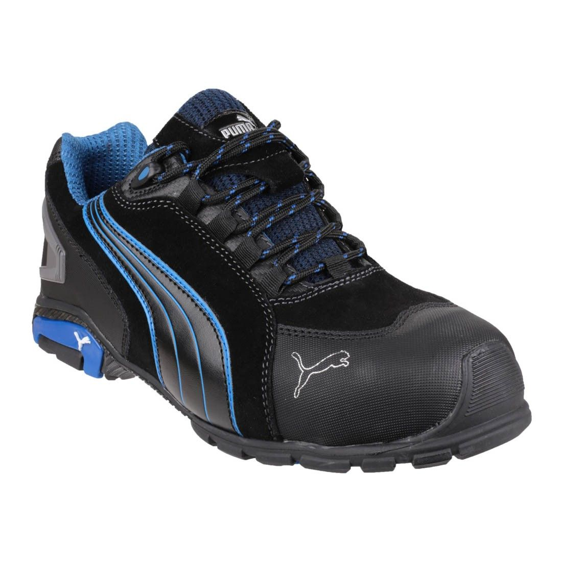 9032b0a21d Puma Safety Shoes Rio Low Modern Sporty Black Mens Safety Trainers ...