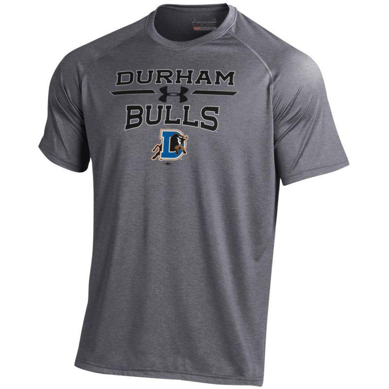 Under Armour Men's Durham Bulls Grey Tech Performance T