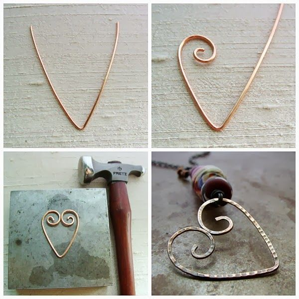 Tutorial Tuesday - Wire Heart Pendant | Jewelry | Pinterest | Draht ...
