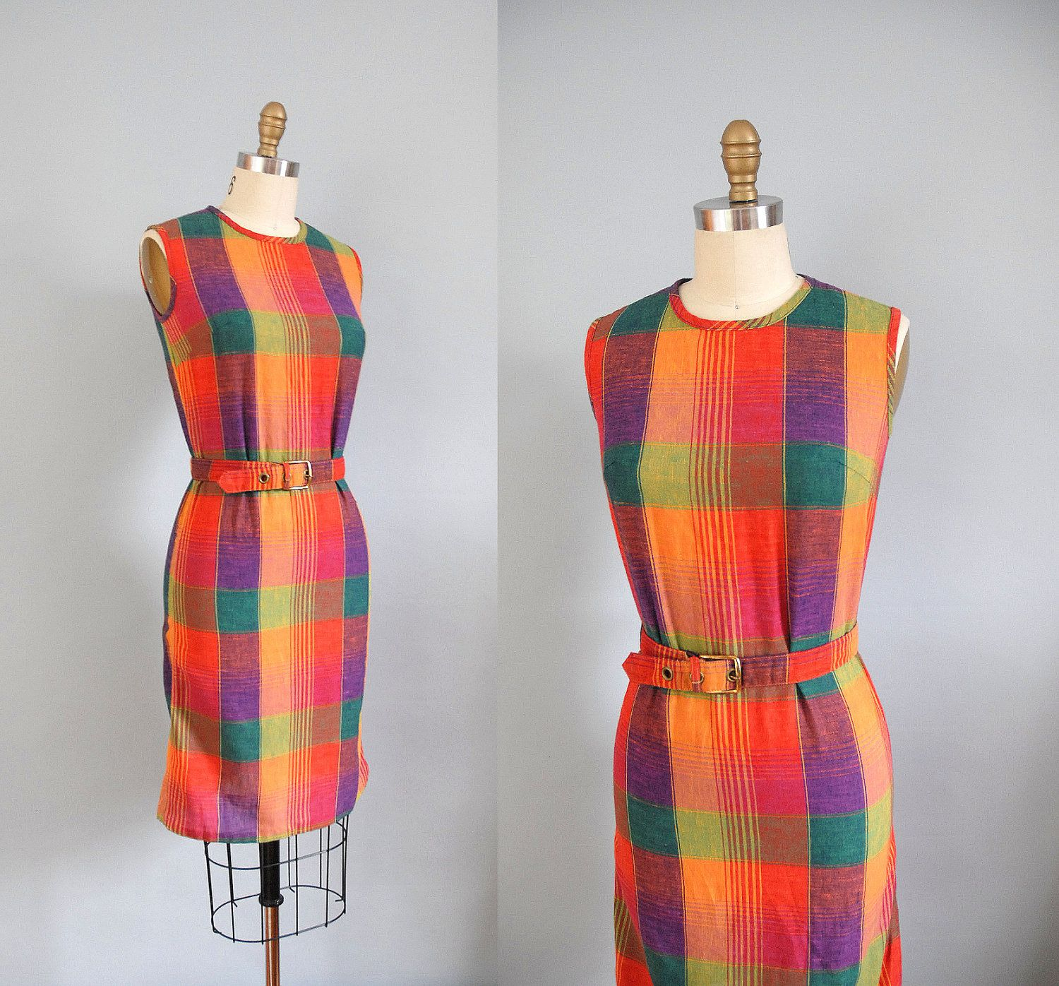 S dress s plaid shift dress by wildfellhallvintage on etsy