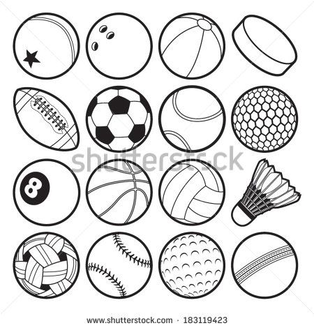 Image Result For Black And White Drawing Of Sports Balls Sports Coloring Pages Football Coloring Pages Coloring Pages To Print