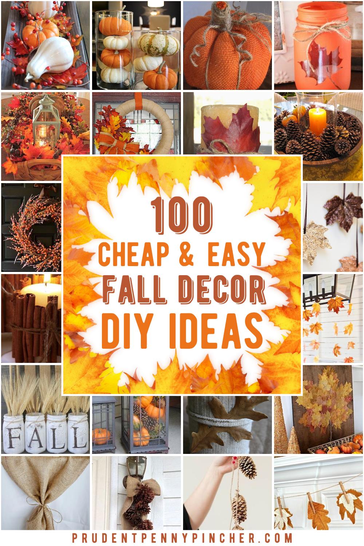 100 Cheap And Easy Fall Decor Diy Ideas In 2020 Fall Decor Diy Easy Fall Decor Fall Decor Dollar Tree
