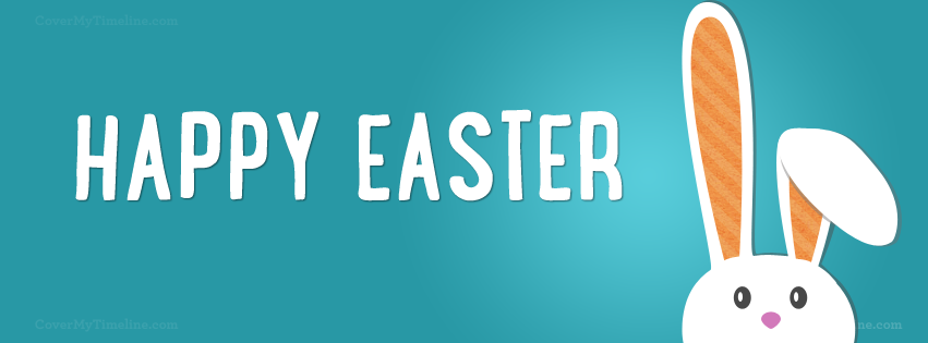 Easter Happy Easter Bunny Head Free Facebook Covers Facebook Timeline Profile Covers Easter Holiday Easte Cover Pics Photos For Facebook Facebook Cover