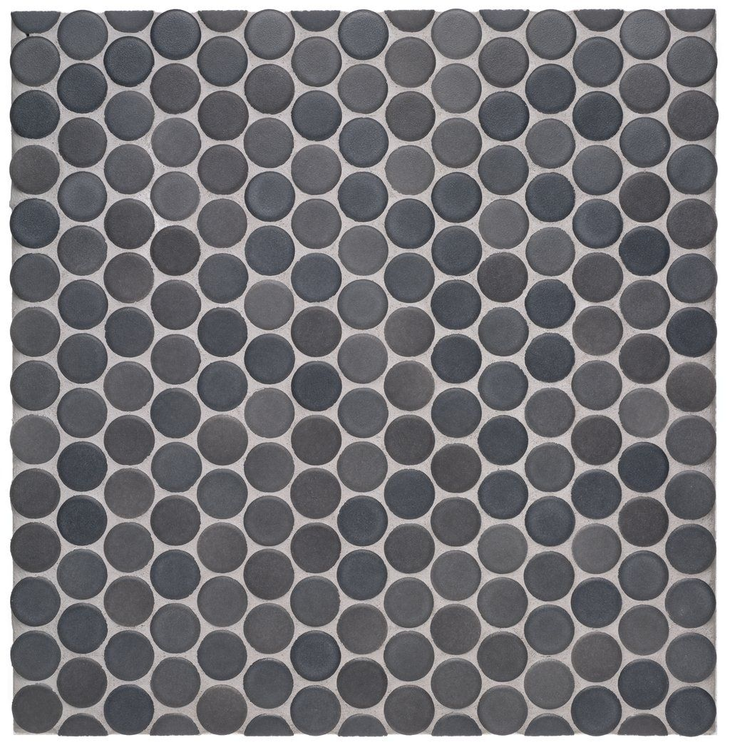 Waterworks penny tile mosaic graphite matte bathroom ideas waterworks graphite penny round tile matte finish discontinued and likely pricey dailygadgetfo Images