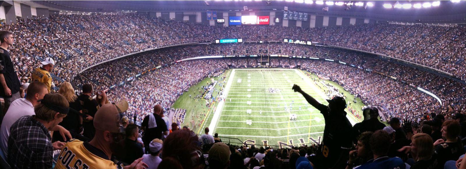 Inside the superdome new orleans saints nfl mercedes for Mercedes benz of new orleans
