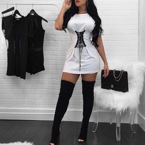 d157239bd14 Belinda corset t-shirt dress