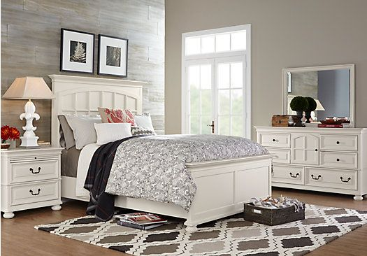 Magnolia Springs White 7 Pc King Panel Bedroom $2 155 00 Find