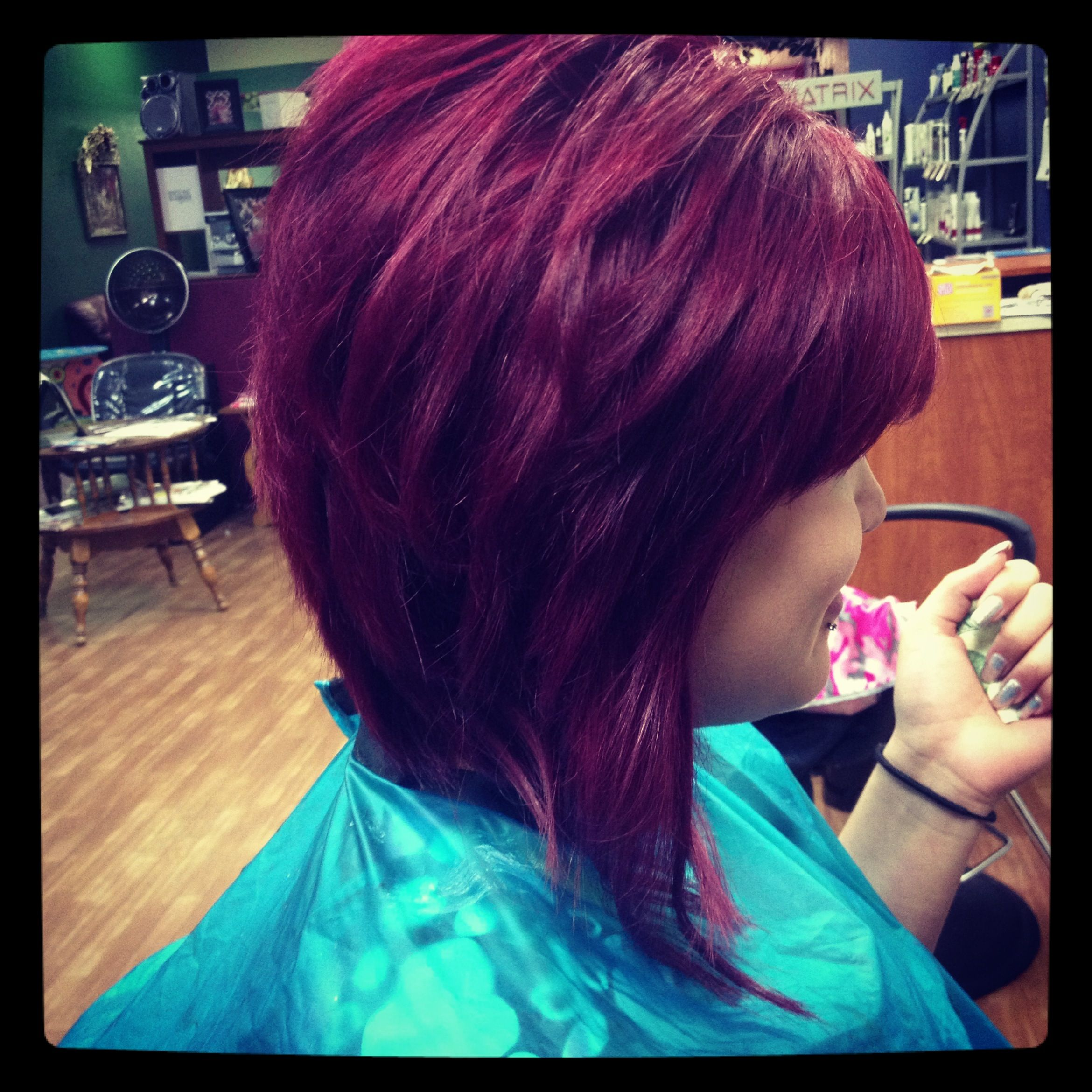 Red Violet W A Layered A Line Bob Great Cut I Even Like The Wicked