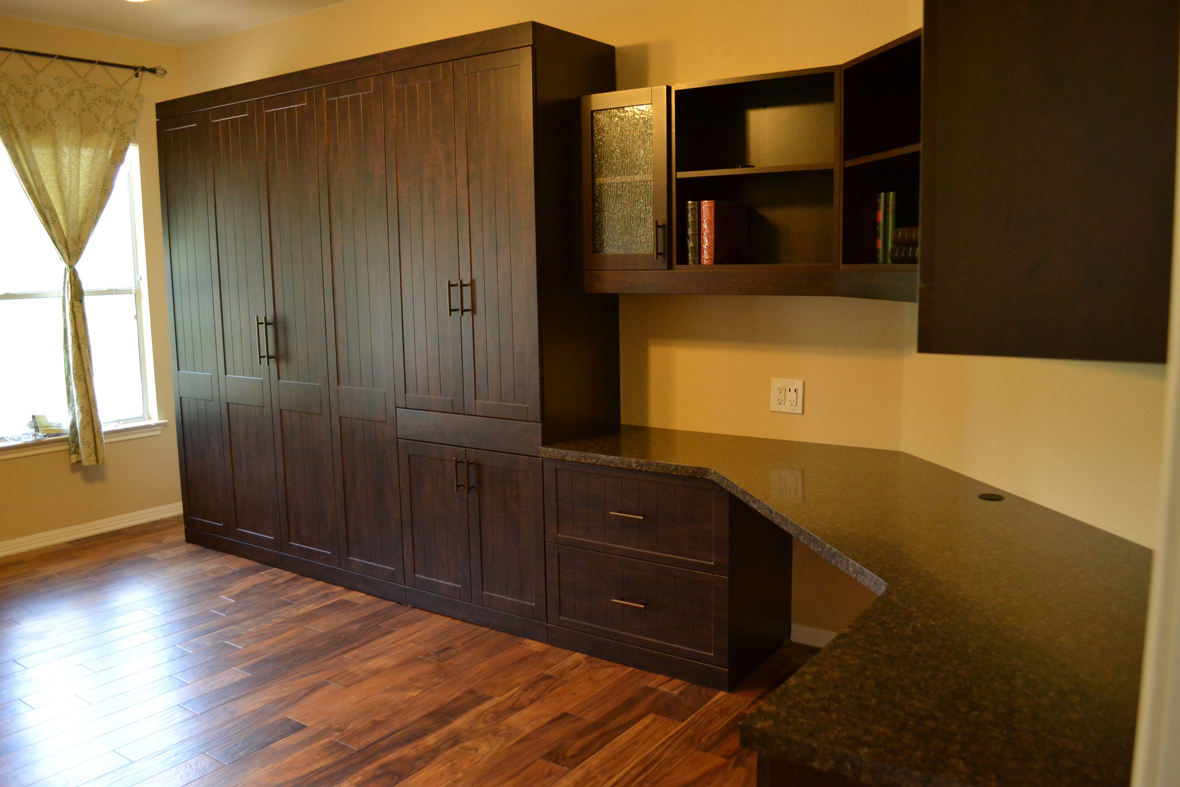 Beautiful dark wood desk and Murphy Bed combo! Murphy