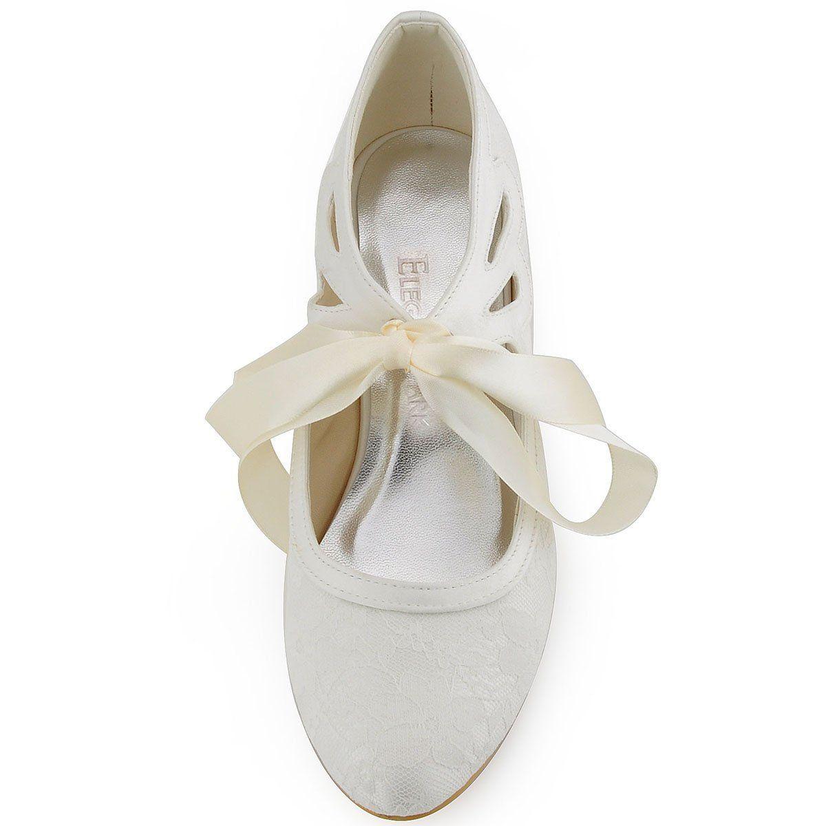 Low heel dress shoes for wedding  Amazon  ElegantPark HC Womenus Mary Jane Closed Toe Low
