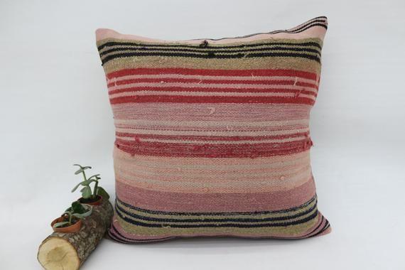 20x20 Navajo Pillow, Wholesale Kilim Pillow,Square Pillow, Pillow Cover,Throw Pillow,Striped Pillow,