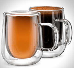 Anchor And Mill Double Walled Insulated Glass Coffee Mugs Or Tea