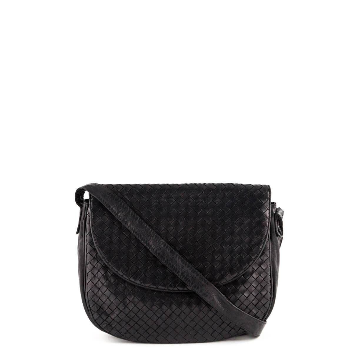 Bottega Veneta Black Intrecciato Vintage Crossbody Lovethatbag