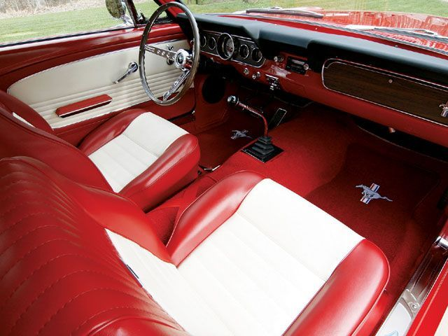 1966 ford mustang fastback interior love this color combination with a candy apple exterior. Black Bedroom Furniture Sets. Home Design Ideas