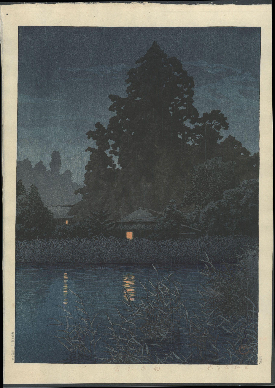 Hanga Gallery Torii Item Detail Print Kawase Hasui Rain