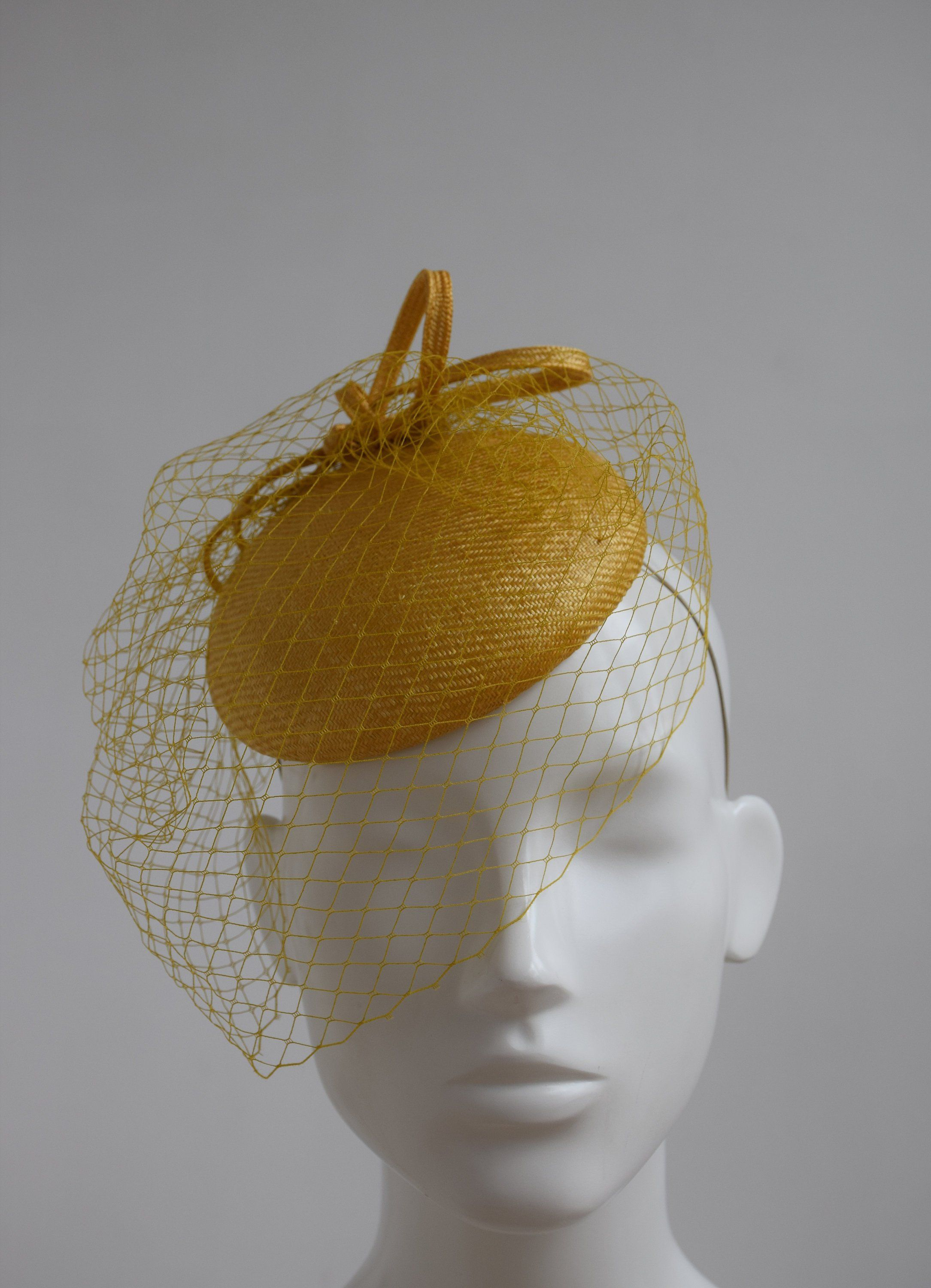 Mustard Yellow Wedding Hat - Mustard Yellow Fascinator - Mustard Yellow  Straw Headpiece - Mustard Pillbox Hat - Dijon Mustard Cocktail Hat by ... 5c4ceea230d