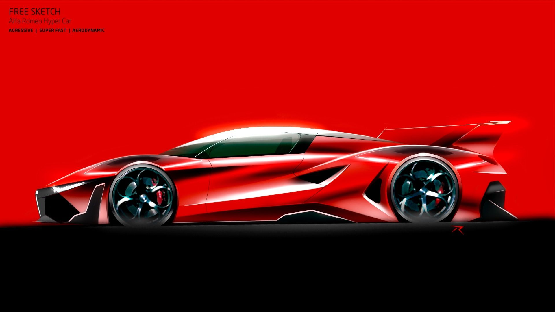 Alfa Romeo mid engine Hyper Car proposal by P Ruperto