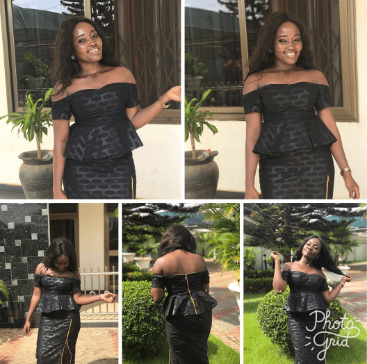 41658b0e709ce kaba-and-slit-funeral-attire-500x496 Ghanaian Women Kaba and Slit- 20  Beautiful Kaba Outfit Ideas