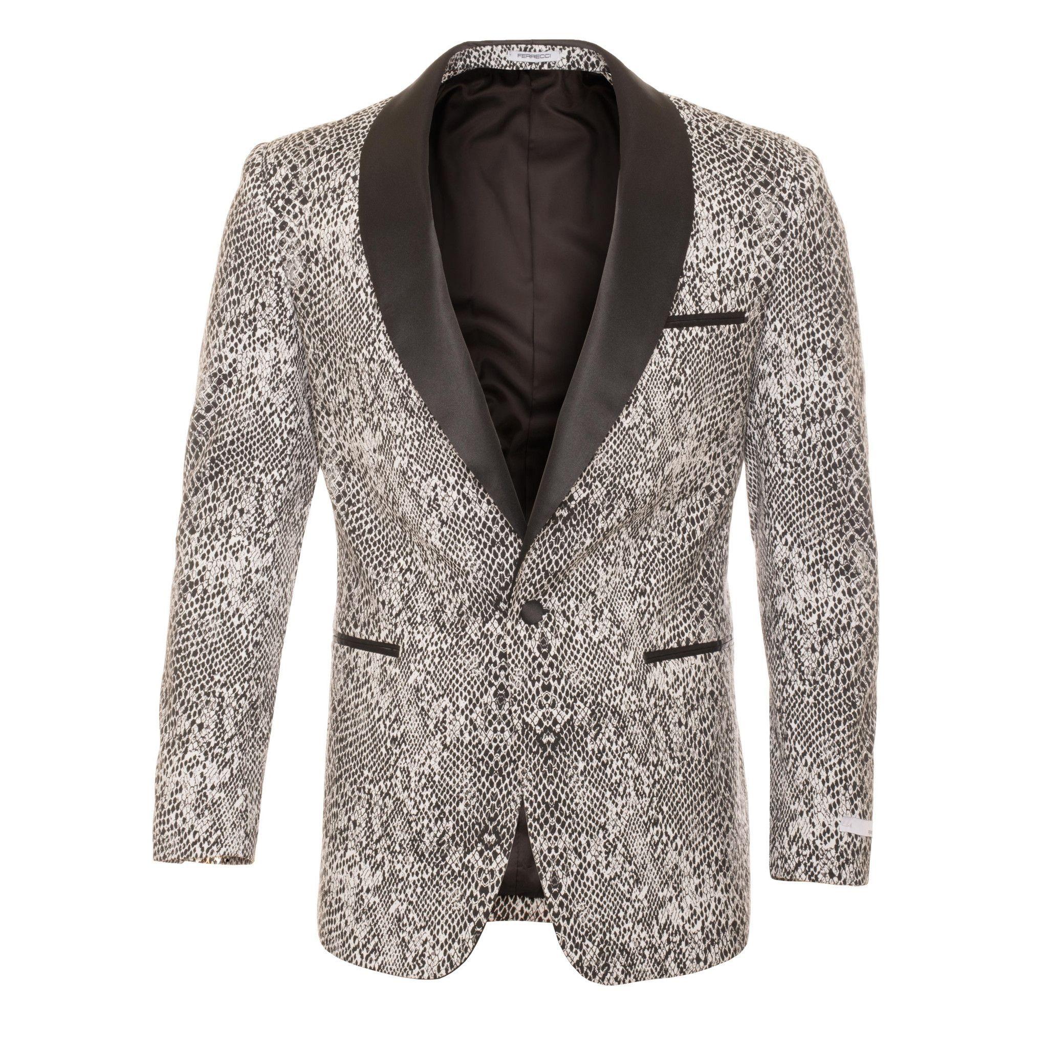 1d63cfa706a Ash Black and White Snake Skin Tuxedo Blazer in 2019