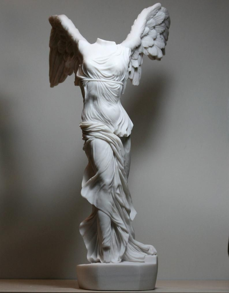 Winged Nike Victory of Samothrace Goddess Cast Marble Greek Statue Sculpture 14.17 - 36 cm **Free Shipping & Free Tracking Number**