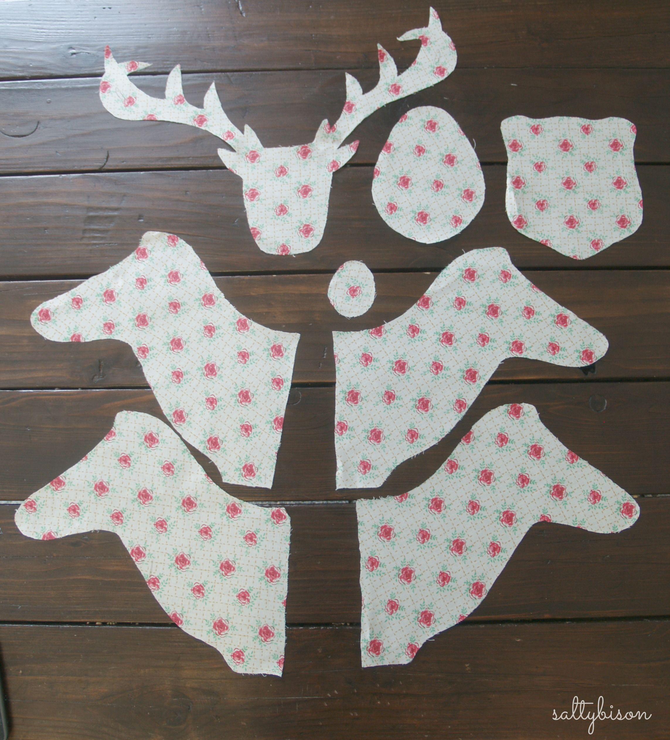 Fabric Deer Head Pattern Google Search Patrones De Animal De