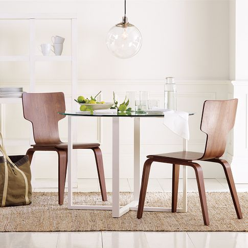 Stackable Chair | west elm #MCM [An affordable alternative to the classic Eames molded plywood chair.] & Stackable Chair | west elm #MCM [An affordable alternative to the ...