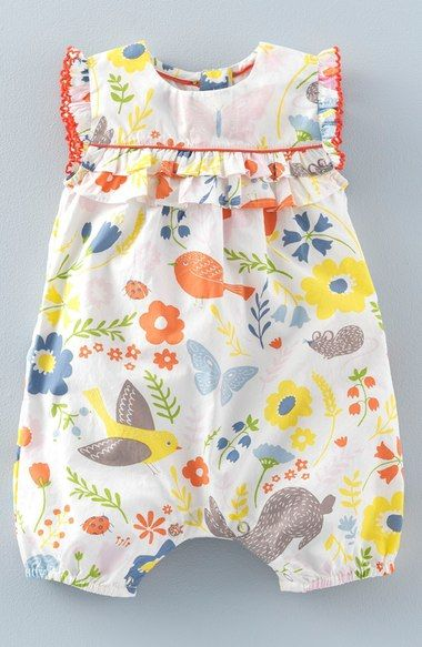 12010759907 Mini Boden  Pretty  Print Romper (Baby Girls   Toddler Girls) available at