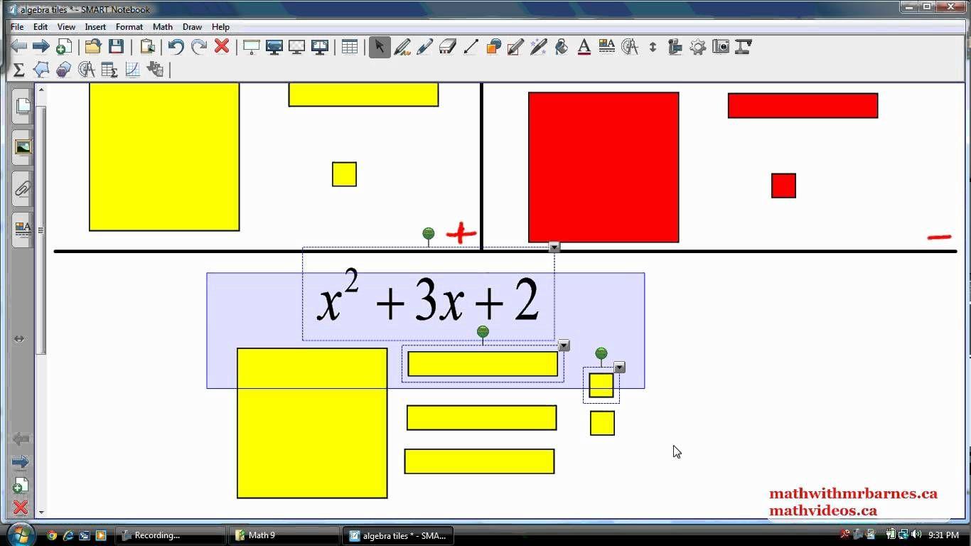 representing polynomials algebra tiles algebra tile algebra