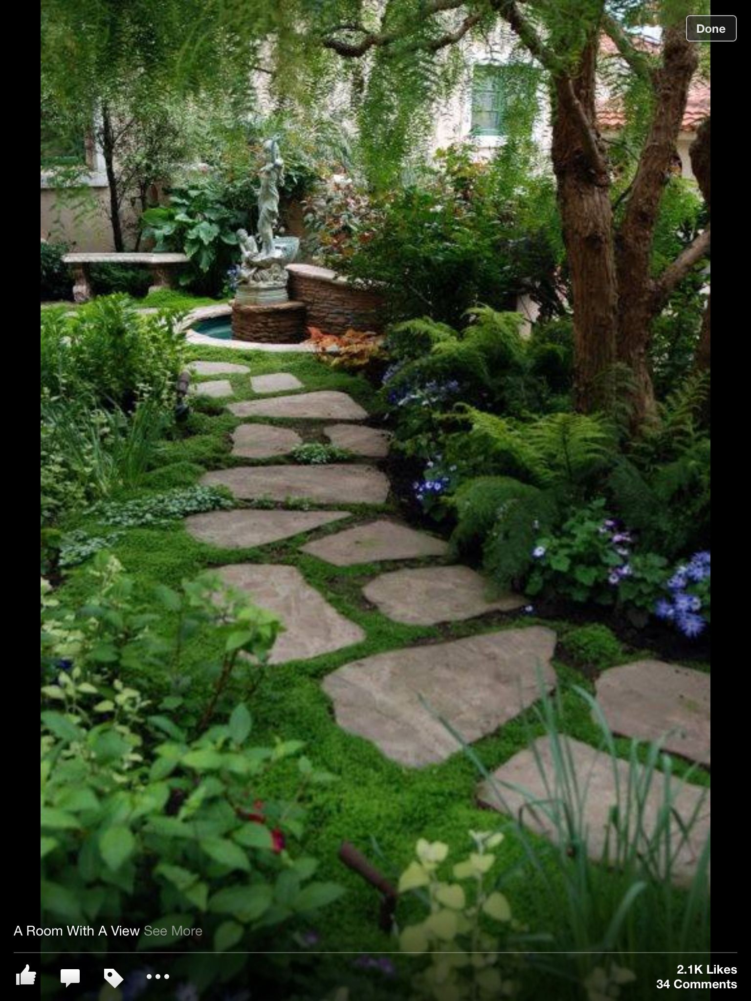 Enchanting Small Garden Landscape Ideas With Stepping Walk: Veranda, Pergola, Backyard