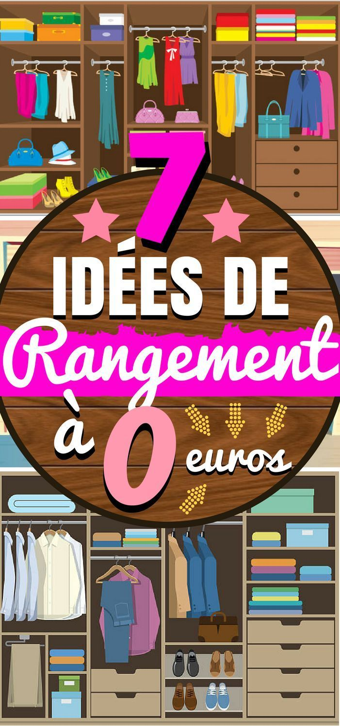 7 id es de rangement simples a 0 euros pinterest rangement maison id es de rangement et. Black Bedroom Furniture Sets. Home Design Ideas