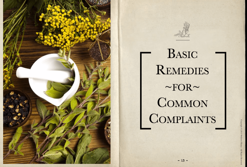 Basic Remedies for Common Complaints Handbook of Natural Remedies