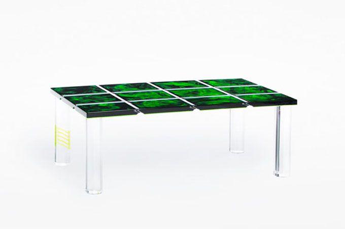 Table Basse Plexiglas Evergreen Par Poliedrica Acrylic Furniture