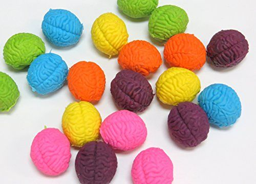 Kids' Pencil Erasers - Brain Shaped Erasers Lot of 20 ** You can get more details by clicking on the image.