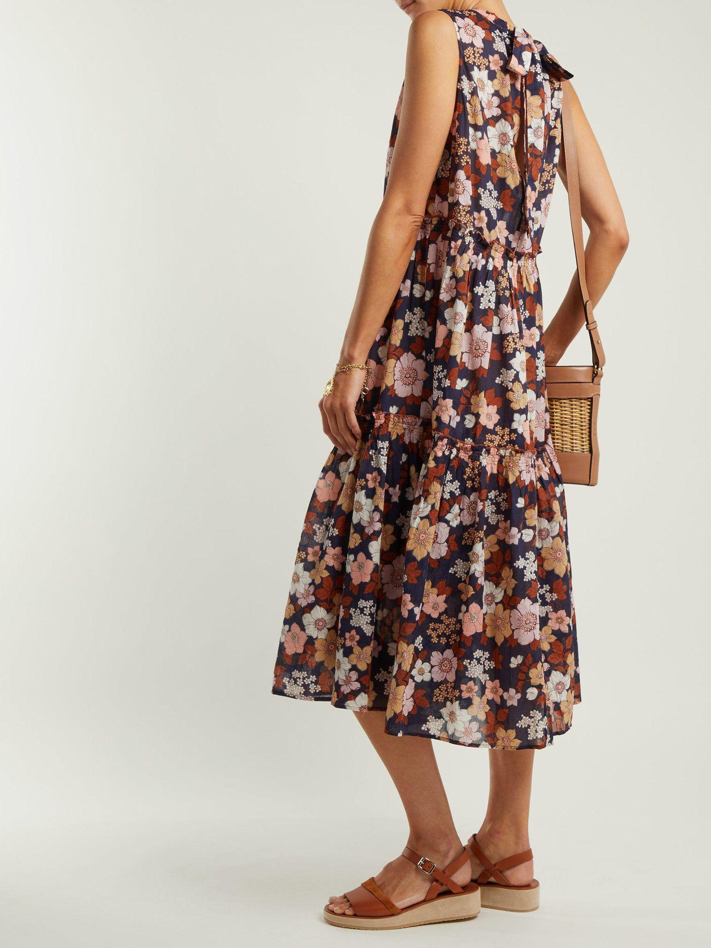 Mila floral-print cotton dress  7accdd5cf947f