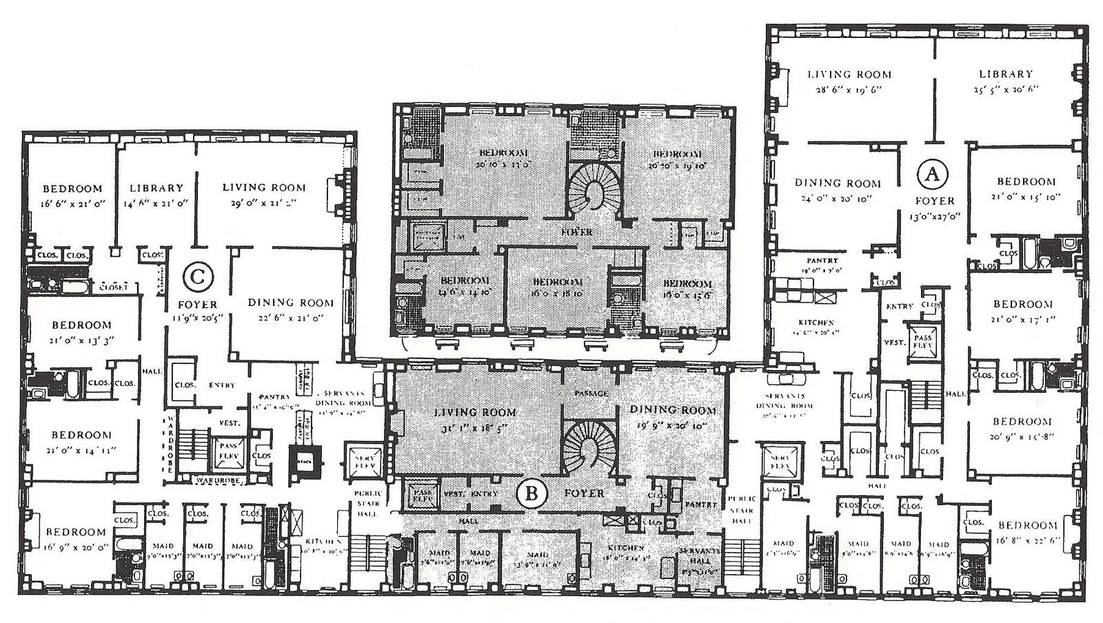 A Typical Floor Plan Of One Sutton Place South Manhattan Image From The New York Apartment Houses Of Rosario C Floor Plans Apartment Floor Plan Sutton Place