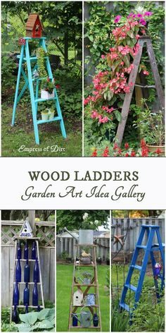 12 Creative And Rustic Garden Art Ladder Ideas Garden Ladder