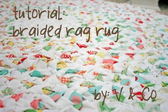 Braided Rag Rug.
