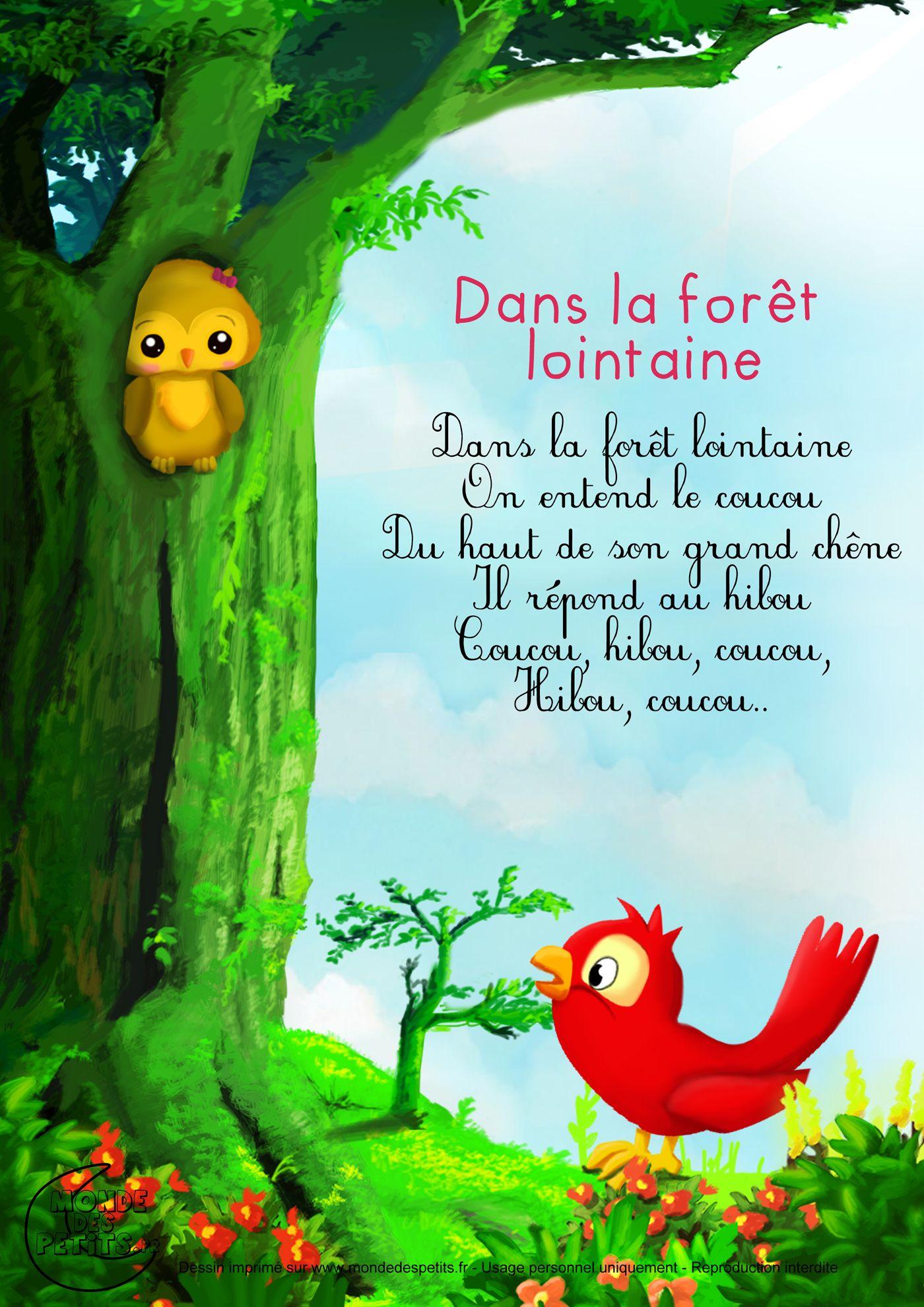 Paroles Dans La Forêt Lointaine Francais Comptines