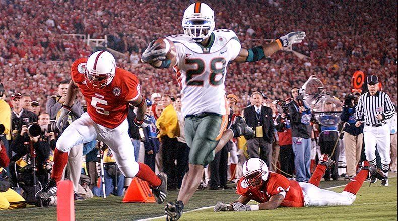 2002 Rose Bowl: #1 Miami 37 #2 Nebraska 14 in 2020 (With images ...