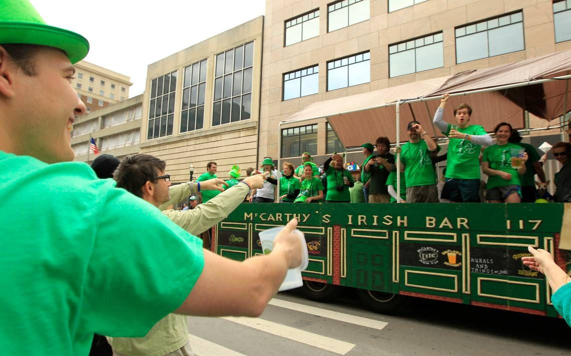St. Patrick's Day Parade starts at 1 p.m. in downtown