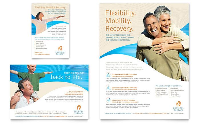 Physical Therapist Flyer and Ad Template Design by StockLayouts - free pamphlet templates