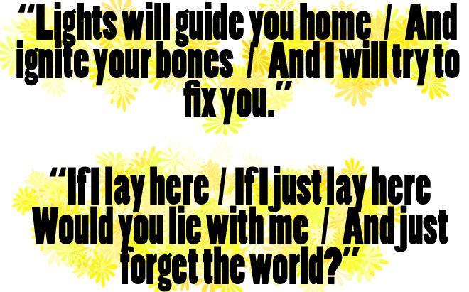 Coldplay Snow Patrol Both Great Great Song Lyrics Snow Patrol Cool Lyrics