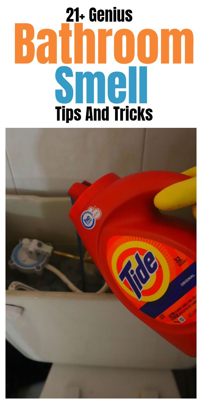 Bathroom smell hacks, tips, and tricks. #cleaningtips #householdtips #cleaninghacks #householdhacks