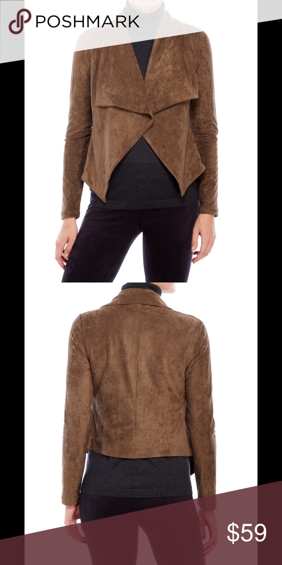 brown drape jackets lind suede front women sleeve draped roll open up fsxcsoq jacket fsxc drapes