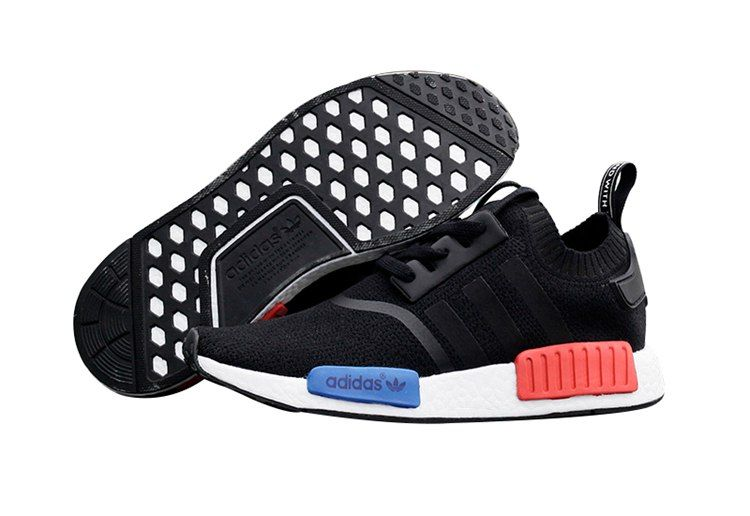 2446f931e5b75 Adidas Men Originals NMD High Top Sneaker Black White Blue Red ...