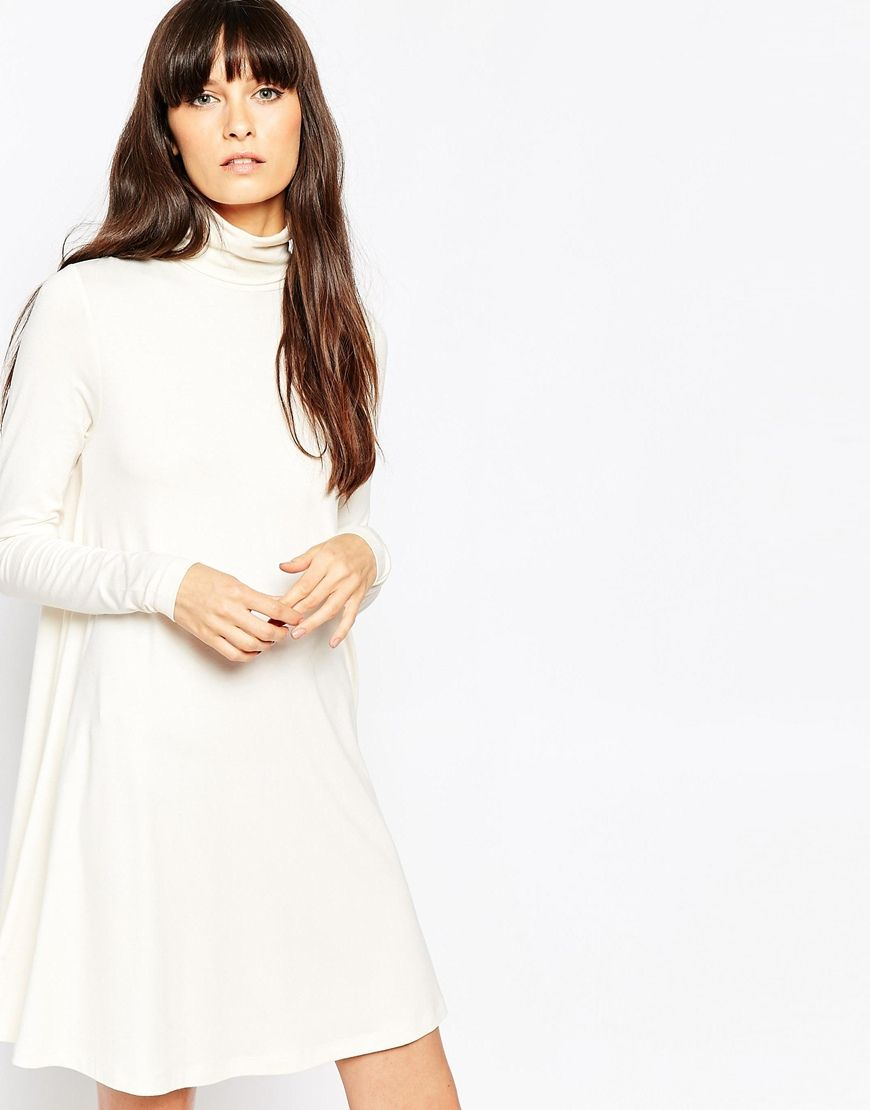 Asos swing dress with polo neck and long sleeves my style dresses