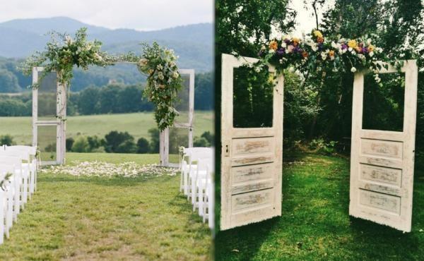 Arcos para bodas con puertas